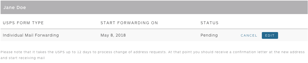 How do I edit or cancel my mail forwarding request? – Updater